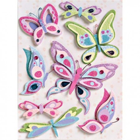 Бабочки Стикеры для скрапбукинга K&Company