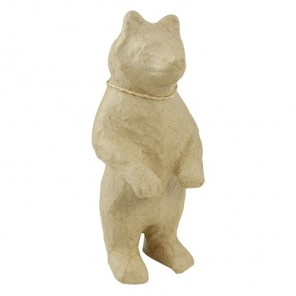 Медведь стоит Фигурка маленькая из папье-маше объемная Decopatch