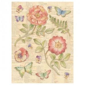 Цветы и бабочки Стикеры для скрапбукинга, кардмейкинга K&Company