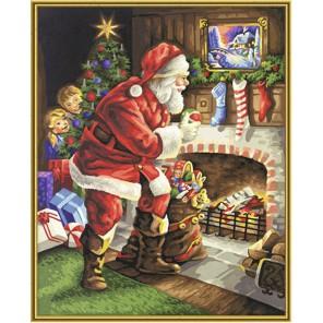 Санта Клаус у камина Раскраска по номерам Schipper (Германия)