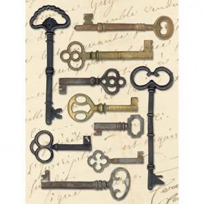 Ключи металлические для скрапбукинга K&Company