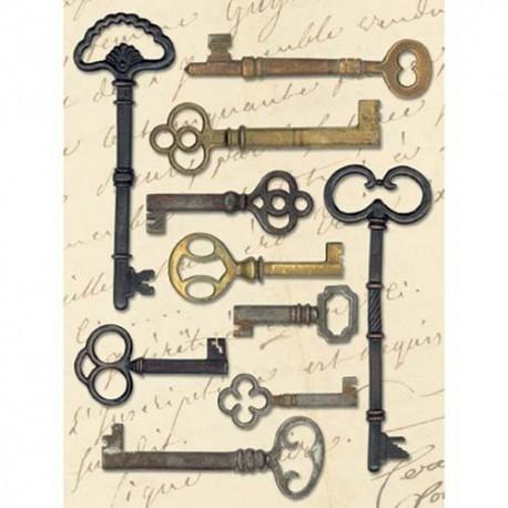 Ключи металл. Стикеры для скрапбукинга K&Company