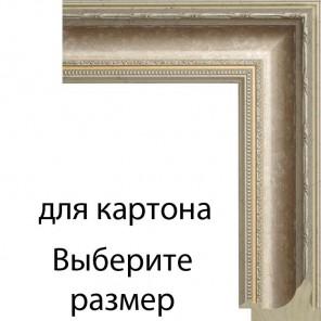 Выберите размер Серебряный свиток Рамка для картины на картоне