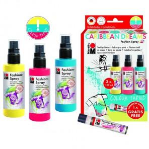 CARIBBEAN DREAMS Набор красок по ткани Fashion Spray Marabu ( Марабу )