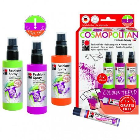 COSMOPOLITAN Набор красок по ткани Fashion Spray Marabu ( Марабу )
