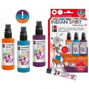 INDIAN SPIRIT Набор красок по ткани Fashion Spray Marabu ( Марабу )
