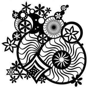 Орнамент-фантазия Трафарет-силуэт Marabu ( Марабу )