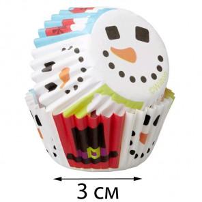 Счастливый праздник Набор мини бумажных форм для кексов Wilton ( Вилтон )