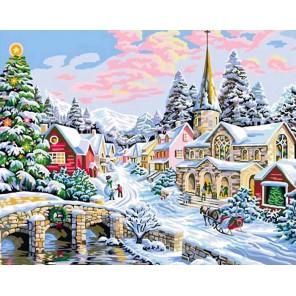 Зима Раскраска картина по номерам акриловыми красками на холсте Color Kit