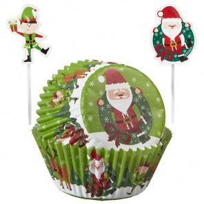Рождество Набор бумажных форм и украшений для кексов Wilton ( Вилтон )