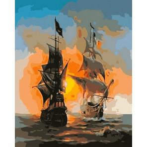 Два парусника Раскраска картина по номерам акриловыми красками на холсте Color Kit