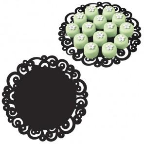 Чёрные 2104-0220 Салфетки кружевные Wilton ( Вилтон )