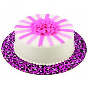 Розовый леопард Основа для торта круглая Wilton ( Вилтон )