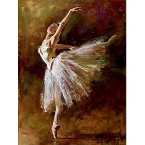 Изящная балерина Раскраска (картина) по номерам акриловыми красками на холсте Iteso