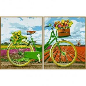 Голландский велосипед Диптрих Раскраска по номерам акриловыми красками Schipper (Германия)