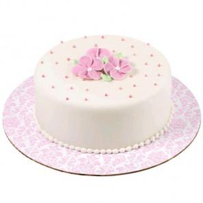 Розовый дамаск Основа для торта круглая Wilton ( Вилтон )