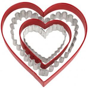 Сердца 4шт Формы металлические для вырезания печенья Wilton ( Вилтон )