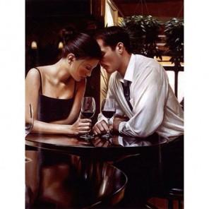 Пара в ресторане Алмазная вышивка (мозаика) Гранни