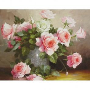 Букет нежных роз Алмазная вышивка (мозаика) Гранни