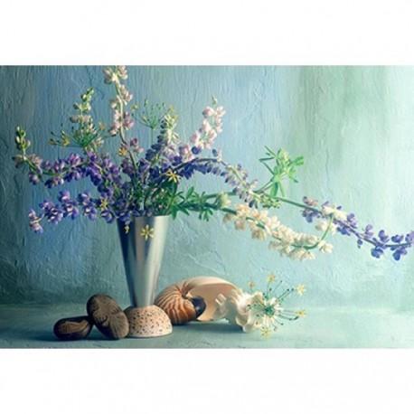 Цветы и ракушки Алмазная вышивка (мозаика) Гранни