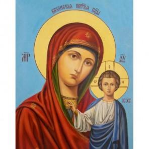Казанская Пресвятая Богородица Алмазная вышивка (мозаика) Гранни