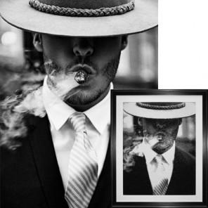 Мужчина с сигарой Алмазная вышивка (мозаика) Гранни