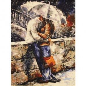 Романтическая прогулка под дождем Алмазная вышивка (мозаика) Гранни