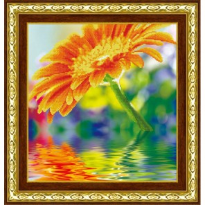 Солнечный цветок Алмазная частичная вышивка (мозаика) Color Kit