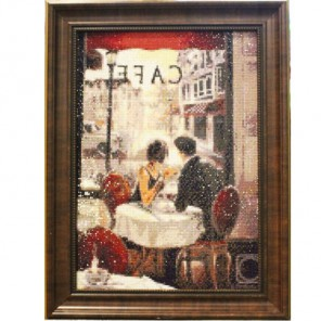 Романтический обед Алмазная вышивка (мозаика) Гранни