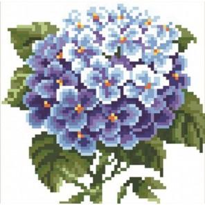 Гортензия Алмазная вышивка (мозаика) Color Kit
