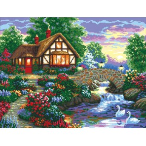 Дом у речки Алмазная вышивка (мозаика) Color Kit