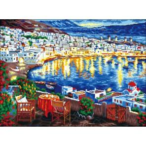 Вечерняя гавань Алмазная вышивка (мозаика) Color Kit