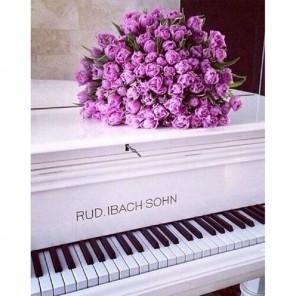 Розы на рояле Алмазная вышивка (мозаика) Гранни