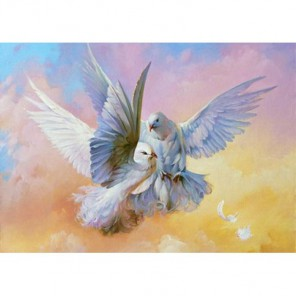 Голуби Алмазная вышивка (мозаика) Гранни