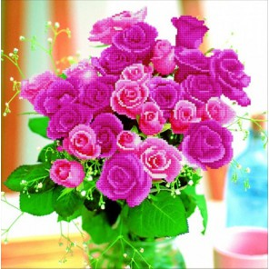 Букет роз Алмазная частичная вышивка (мозаика) Color Kit