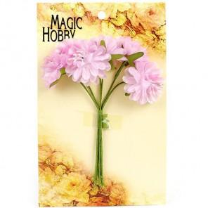 Розовые Цветы бумажные цвет 1 MAGIC HOBBY