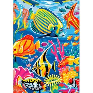 Подводный мир Алмазная частичная вышивка (мозаика) Color Kit