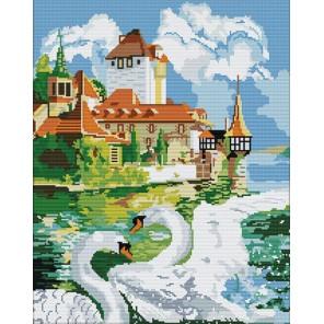 Лебединая пара Алмазная вышивка (мозаика) со сборным подрамником Color Kit