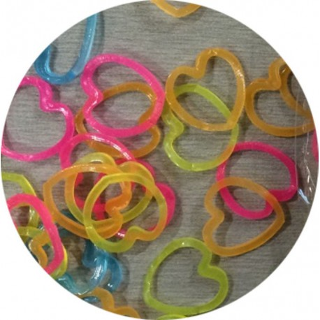 Сердечки 300шт Резиночки для плетения