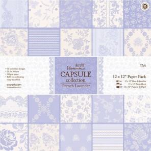 French Lavender Набор бумаги 30х30 см для скрапбукинга, кардмейкинга Docrafts