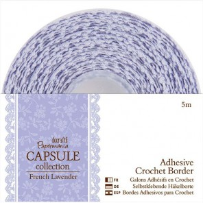 French Lavender Тесьма кружевная самоклеющаяся декоративная для скрапбукинга, кардмейкинга Docrafts