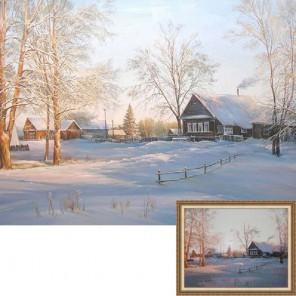 Зима в деревне Алмазная вышивка (мозаика) Гранни