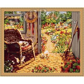 Садовое настроение Раскраска по номерам на холсте Hobbart