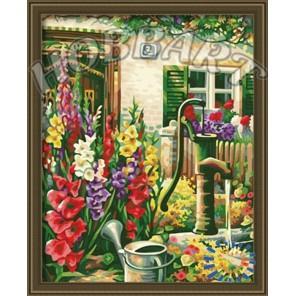 Цветочный водопой Раскраска по номерам акриловыми красками на холсте Hobbart