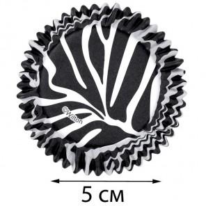 Чёрно - белая зебра Набор бумажных форм для кексов Wilton ( Вилтон )
