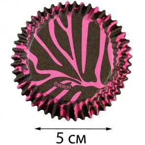 Розово - коричневая зебра 415-0751 Набор бумажных форм для кексов Wilton ( Вилтон )
