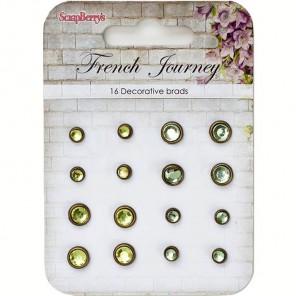 Желто-зеленый Набор хрустальных брадсов Французское путешествие Scrapberry's