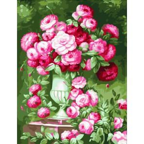 Розовый букет Раскраска по номерам акриловыми красками на холсте Menglei