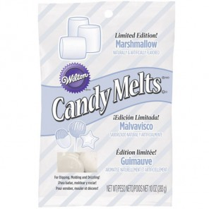 Белая со вкусом зефира Тающая конфетка Candy Melts Wilton ( Вилтон )