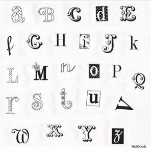 Алфавит Bellissima Набор штампов для скрапбукинга, кардмейкинга Docrafts